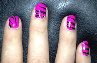 NOTD Kooky Zebra Pink and Silver