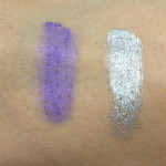 Maybelline Colour Tattoo 24HR: Endless Purple and Eternal Silver Swatches