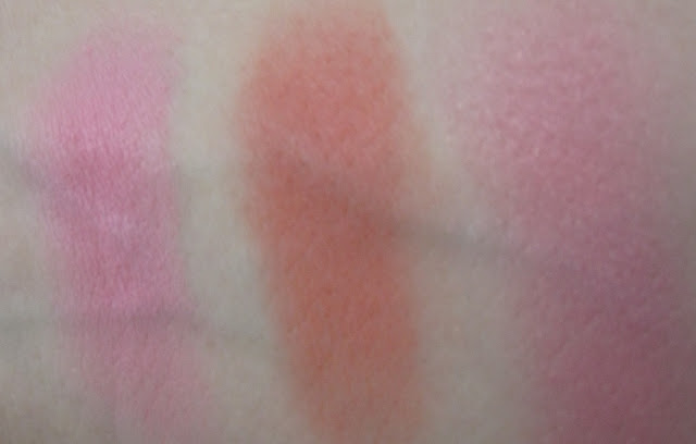 NYX Powder Blushers in Peach, Cinnamon and Rose Garden