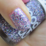 NOTD: Pink Sparkle featuring Seche Precious and Models Own Show Stopper