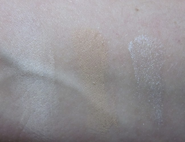 GOSH BB Skin Perfecting Kit swatches: Light (in same order as palette).