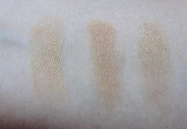 GOSH BB Skin Perfecting Kit swatches: Medium (in same order as palette).