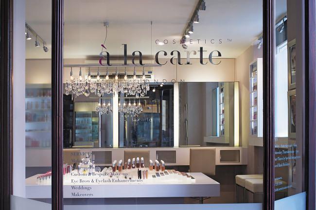 Cosmetics a La Carte Shop Window
