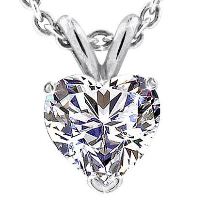 HeartShaped Diamond pendent