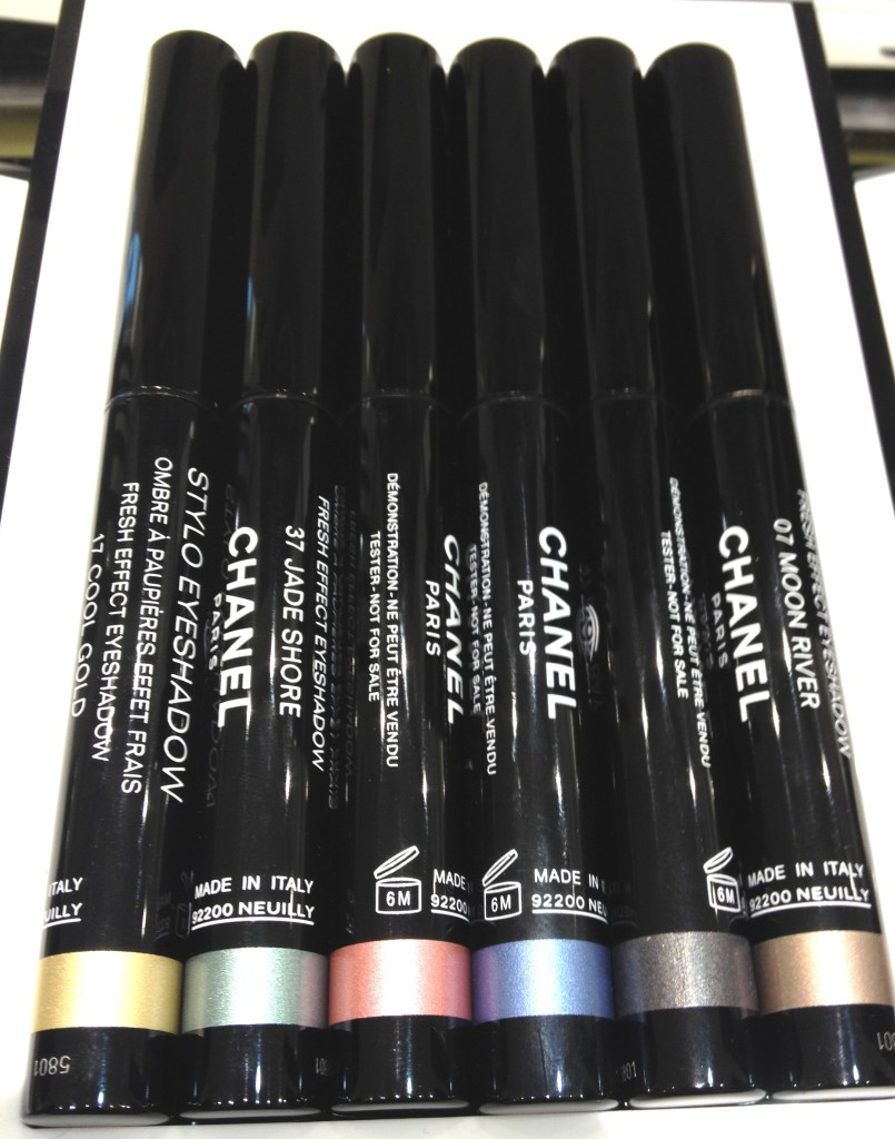 Chanel Stylo Eyeshadow Swatches
