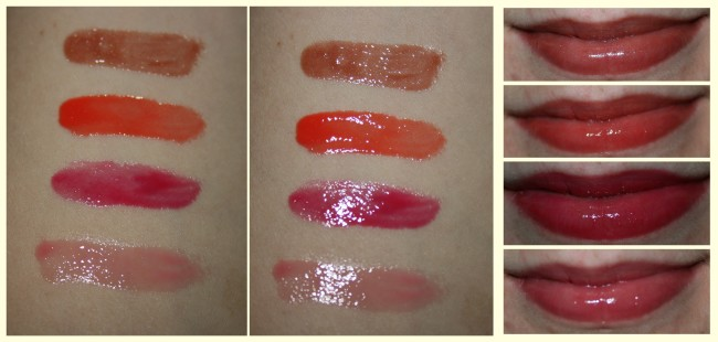 Smashbox Heat Wave Lip Gloss Swatches