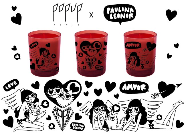 Popup Paris X Paulina Leonor Diamond Candle