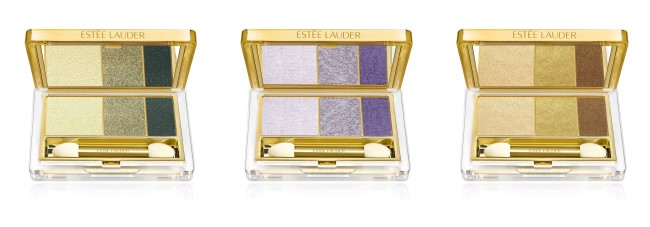 Estee Lauder Pure Color Instant Intense EyeShadow Trio in Camo Chrome, Steel Lilacs and Gilded Chocolate