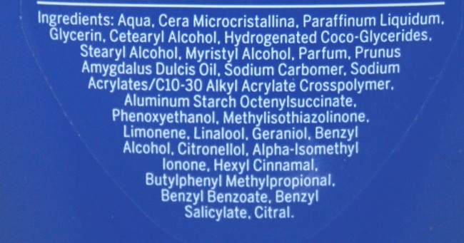 Nivea In Shower Body Moisturiser ingredients