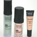 MUFE HD Green Primer, HD Foundation Full Cover Concealer