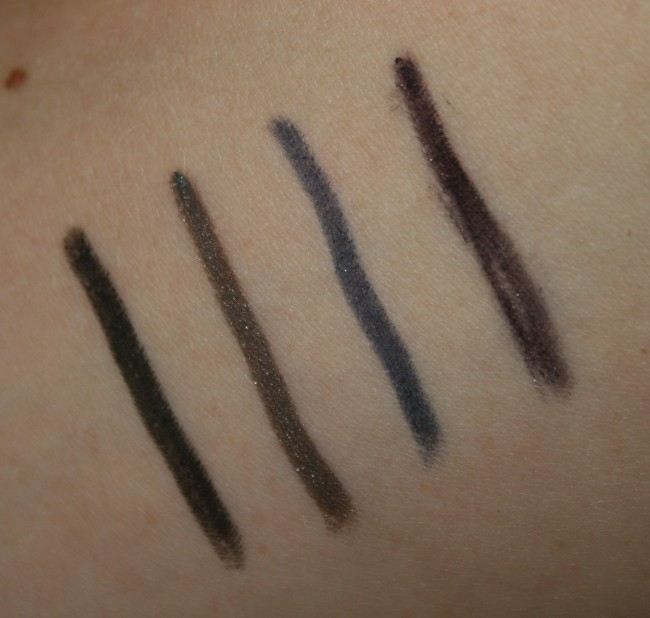 GOSH Smokey Eye Liners swatches