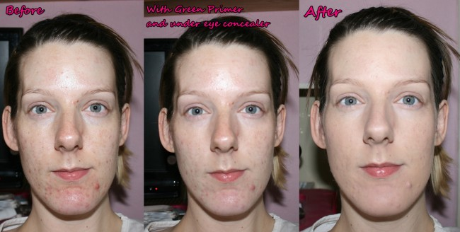 Clarins Skin Illusions Loose Powder Foundation Before and After