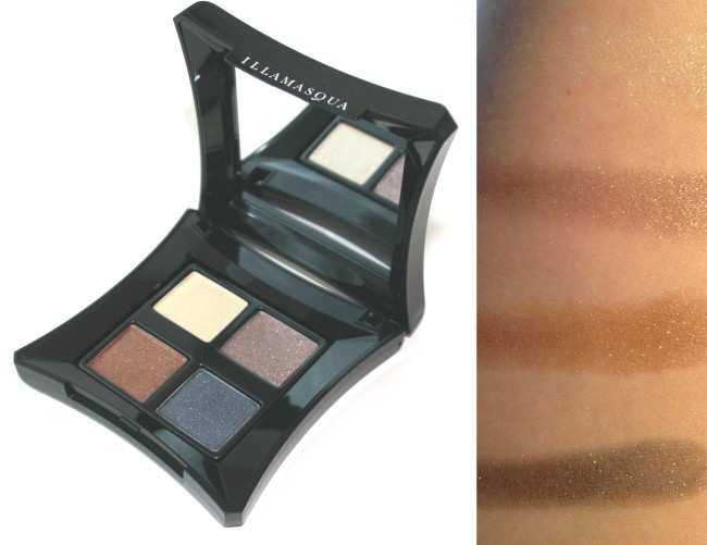 Illamasqua Reflection Palette Swatches top to bottom:  Precipice, Acute, Dart and Graphica.