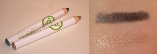 Mary Kay at Play Eye Crayons: Top In the Navy, bottom Gold Mine.