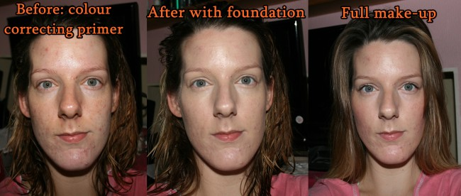 Astalift Light Analyzing Moisture Foundation Before and After