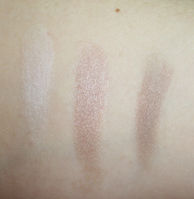 L-R: Top shade, middle shade, bottom shade.