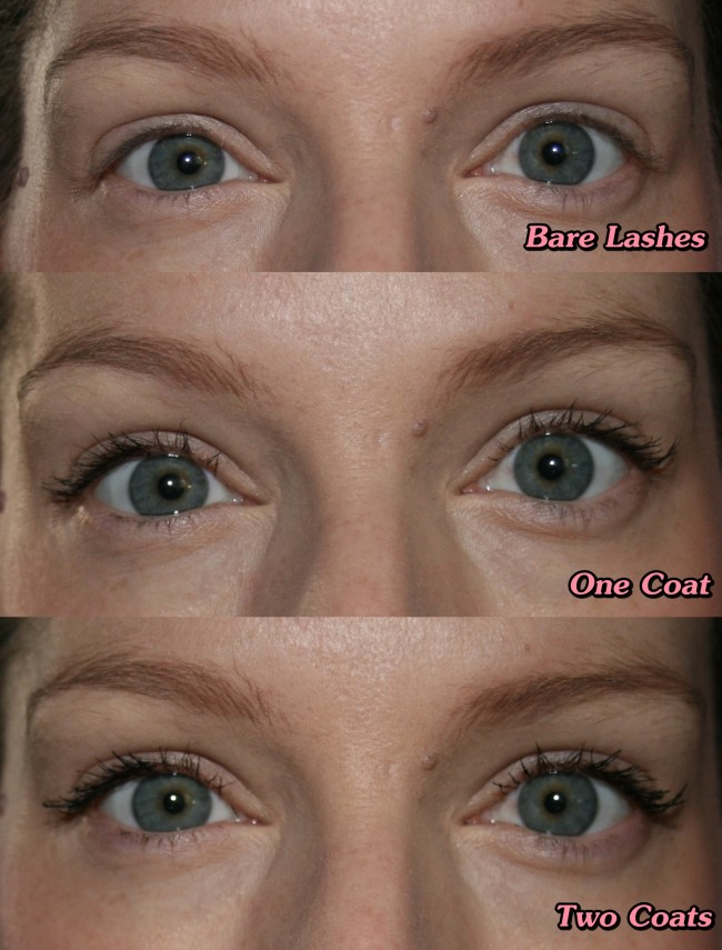 Clarins Be Long Mascara Before and After