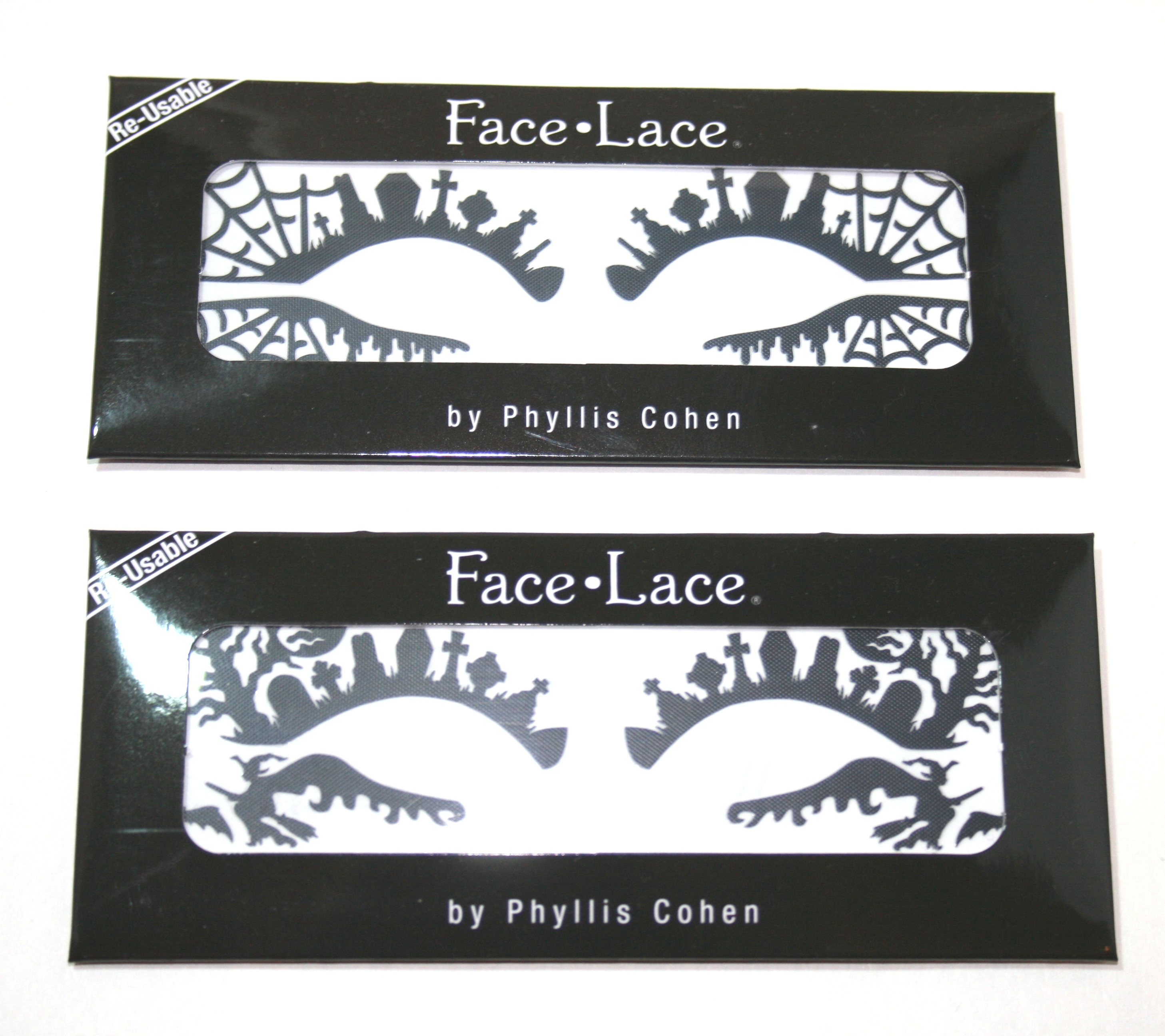 Halloween Face Lace - Broomchicks and Va Va Tomb