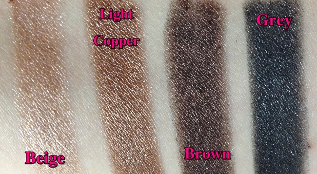 GOSH Forever Eyeshadow Swatches