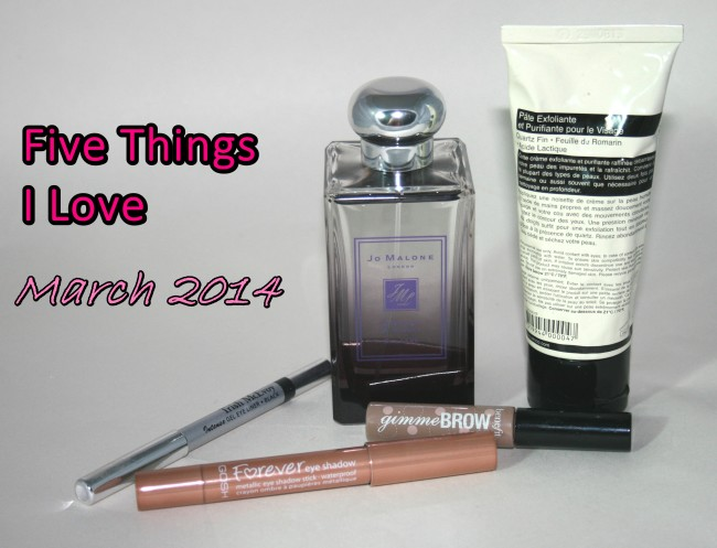 Five Things Love List March 2014