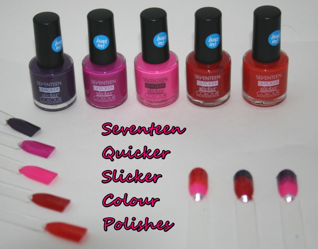 New Shades of Seventeen Quicker Slicker Nail Polish