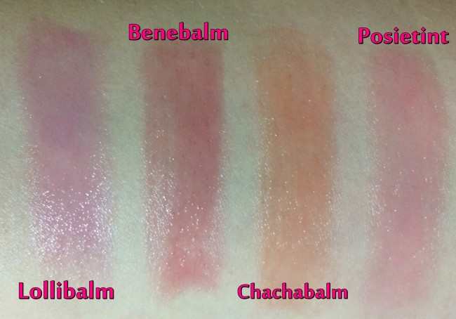 Benefit Hydrating Lip Balm Swatches