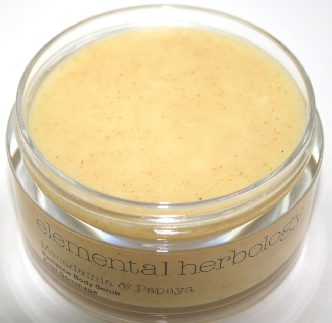 Elemental Herbology Macadamia & Papaya Radiance Body Scrub Review