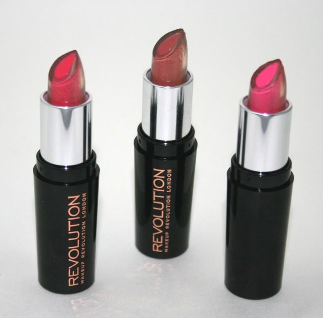 Makeup Revolution Amazing Care Lipsticks #happylips review