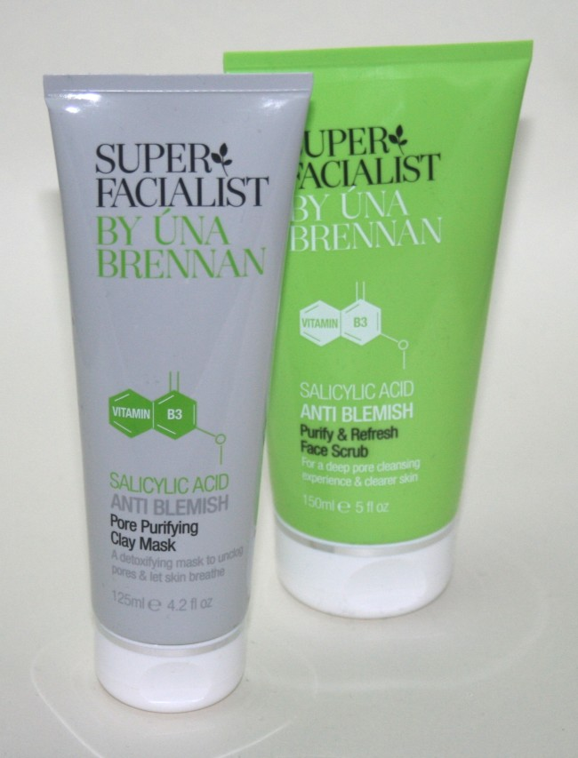 Superfacialist Anti-Blemish Purifying and Refreshing Facial Scrub and Pore Purifying Clay Mask