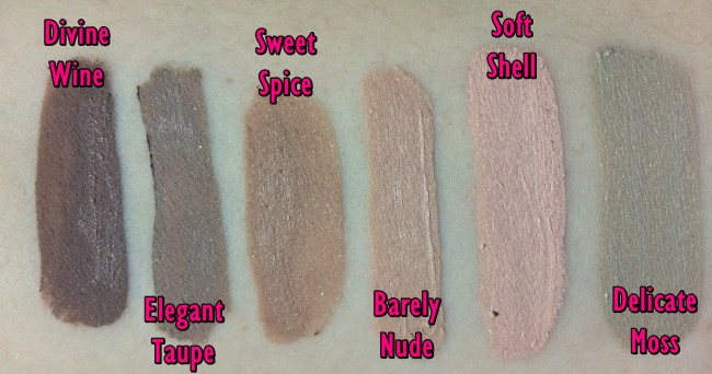 Bare Minerals 5in1 BB Advanced Performance Cream Eyeshadow  Swatches