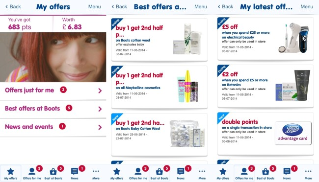 Boots Advantage Card App