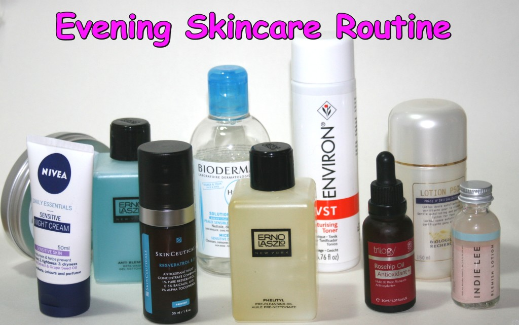 Evening Skincare Routine (July 2014)