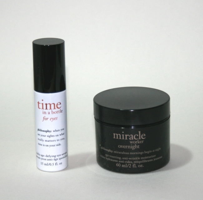 New from Philosophy: Miracle Worker Overnight and Time in a Bottle for Eyes