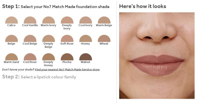 No7 Match Made Lipstick Service Stage 1
