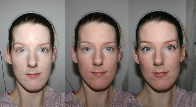 Laura Geller Balance n Brighten Baked Foundation Before and After