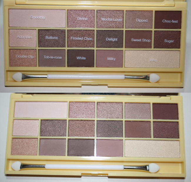 Makeup Revolution Naked Chocolate Palette shades