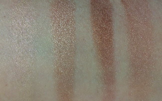 Makeup Revolution I Heart Makeup Triple Baked Bronzer Hot Summer of Love Swatches