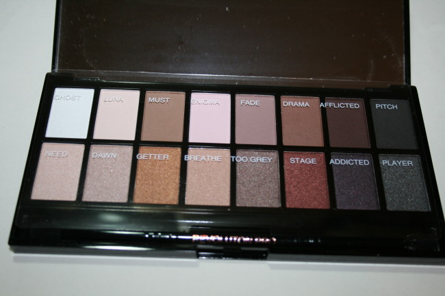 Makeup Revolution Iconic Pro 1 Palette Shades