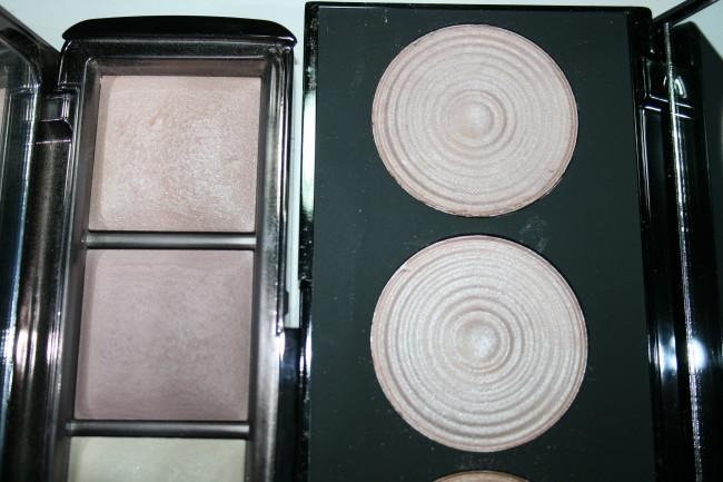 Makeup Revolution Radiance Palette vs Hourglass Ambient Lighting Close-up
