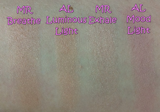 Makeup Revolution Radiance Palette vs Hourglass Ambient Lighting Swatches