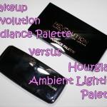 Hourglass Ambient Lighting vs Makeup Revolution Radiance Palette