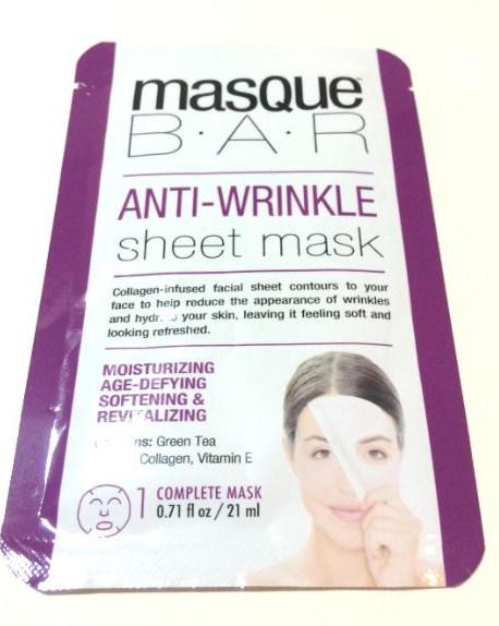 MasqueBar Anti-Wrinkle Sheet Mask Review