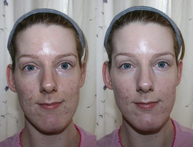 bareMinerals Complexion Rescue Tinted Hydrating Gel Cream Before and After