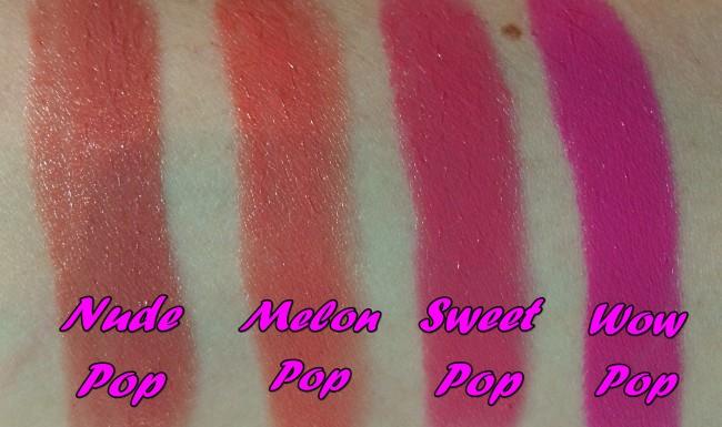 Clinique Pop Lip Colour + Primer  Swatches