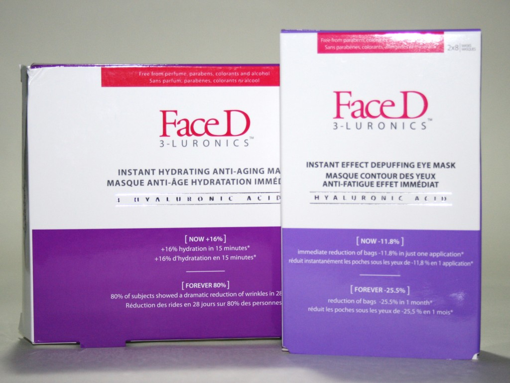 Mask Monday: Face D 3-Luronics Face and Eye Sheet Masks