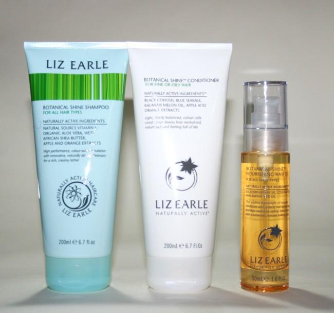 Liz Earle Botanical Shine Shampoo, Conditioner and Hair Oil