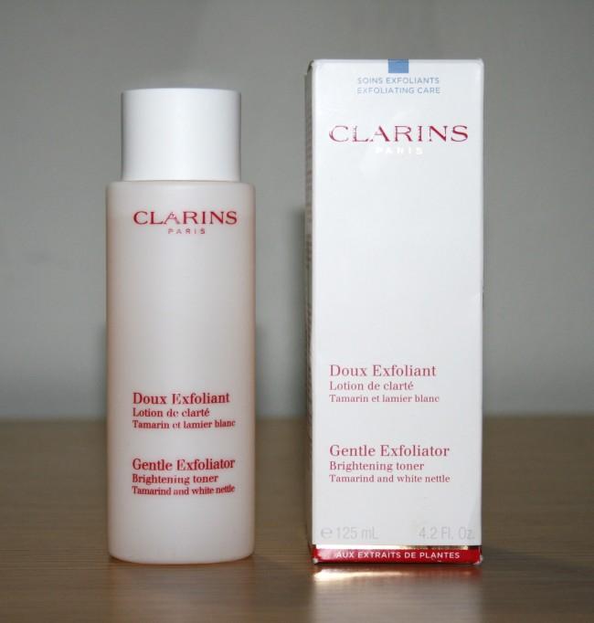 Clarins Gentle Exfoliator Brightening Toner Review