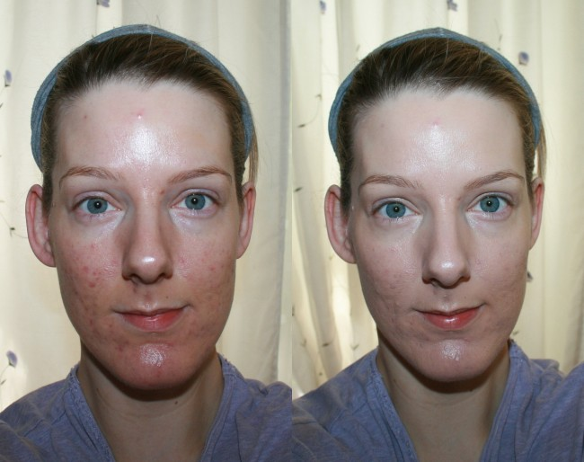 Clarins Everlasting Foundation+ Before and After