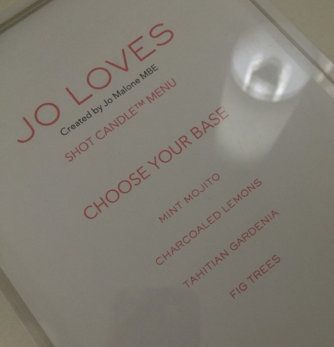 Jo Loves Candle Shot Base Fragrances