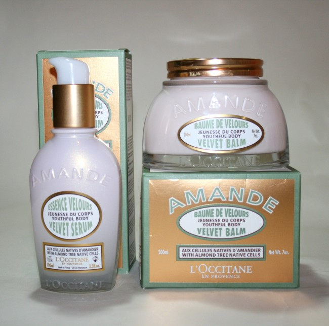 L'Occitane Almond Velvet Balm and Almond Velvet Serum